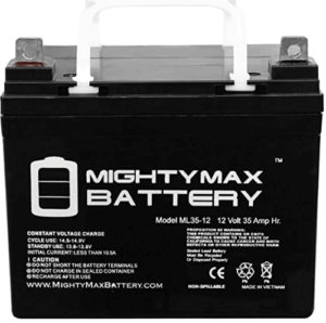 Mighty Max Battery ML35-12 – 12V 35AH U1 Deep Cycle AGM Solar Battery