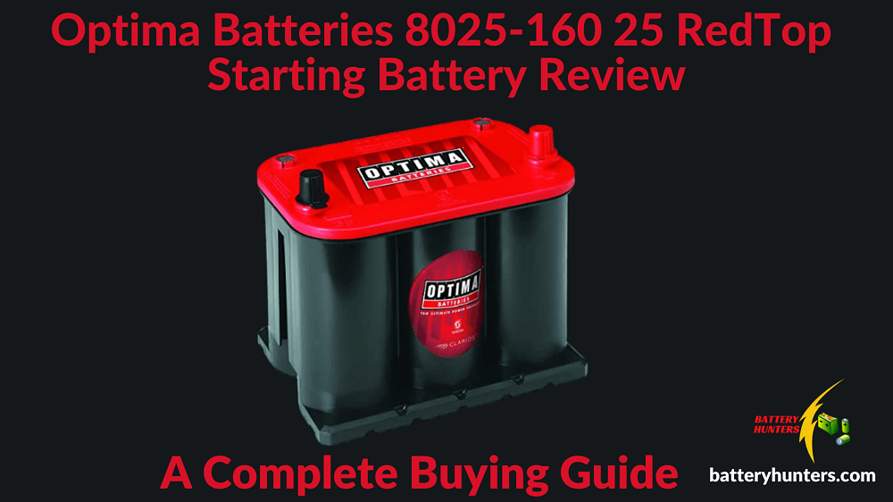 Optima Batteries 8025-160 25 RedTop Starting Battery Review