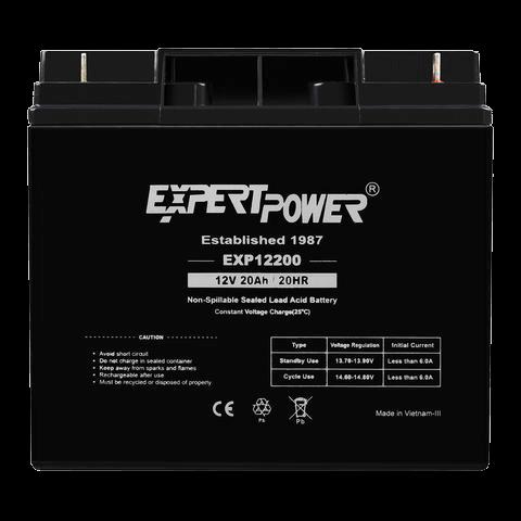 ExpertPower 12 Volt 20 Ah EXP12200 Rechargeable SLA Battery