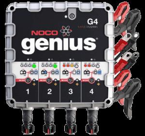 NOCO Genius G4 6V12V 4.4 Amp 4-Bank Battery Charger