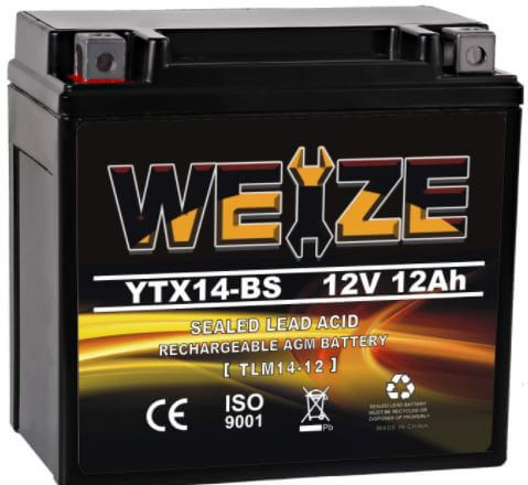 Weize YTX14 BS Battery High Performance