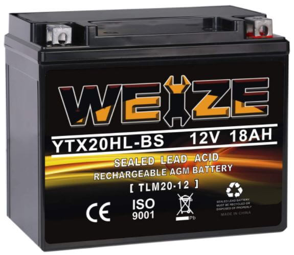 Weize YTX20HL-BS Battery