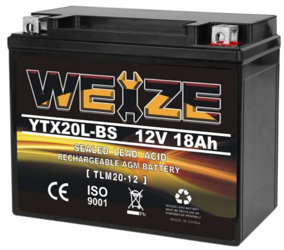 Weize YTX20L-BS battery