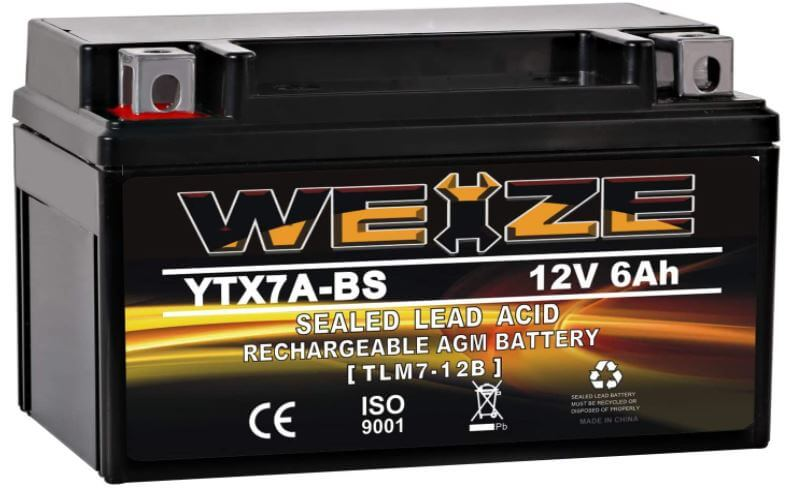 Weize YTX7A-BS battery